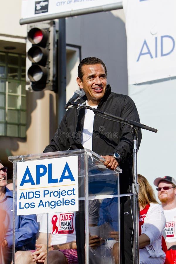 Los Angeles Mayor Anthony Villaraigosa At APLA