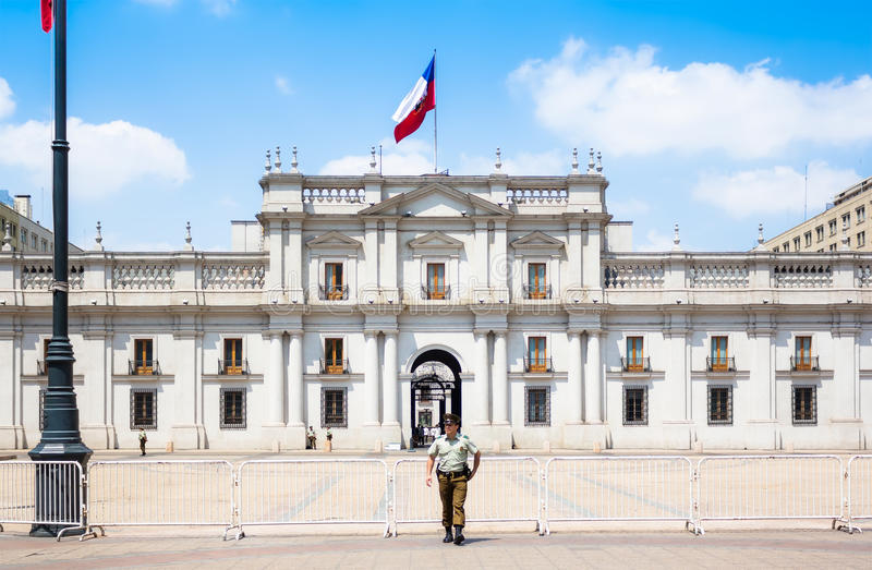 Los Angeles Moneda Pałac Palacio De Los Angeles Moneda w Santiago, Chile zdjęcia stock