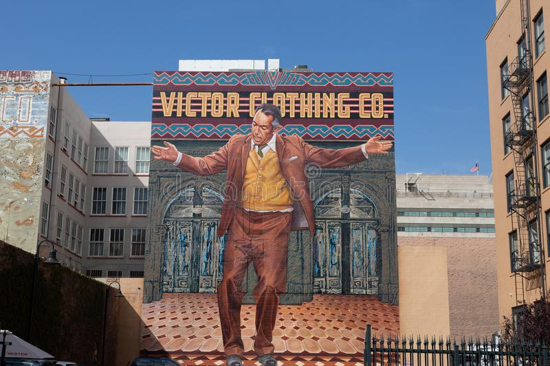 Los Angeles Mural stock images