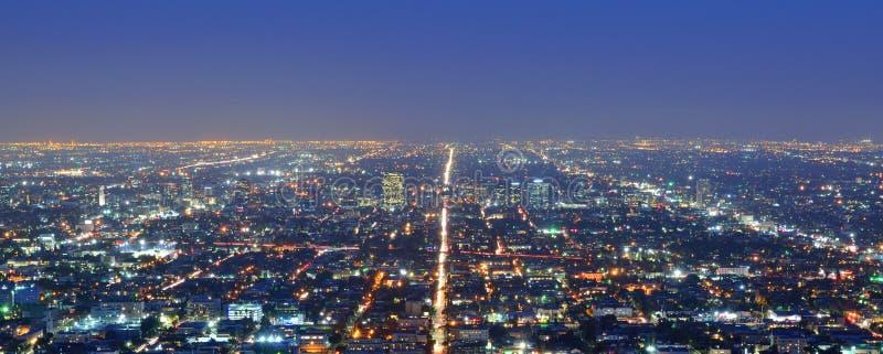 Los Angeles na noite fotos de stock royalty free