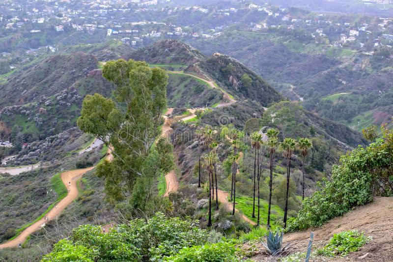 Los Angeles natur från monteringen Hollywood royaltyfri fotografi