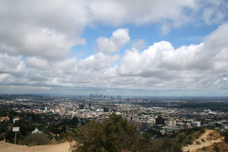 Los Angeles nella distanza fotografia stock libera da diritti