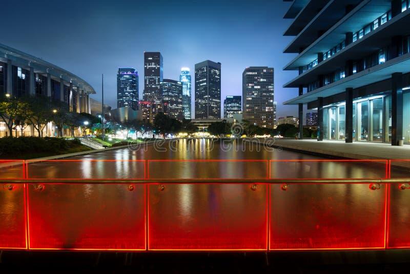 Download Los Angeles night stock photo. Image of illuminated, architecture - 25487110