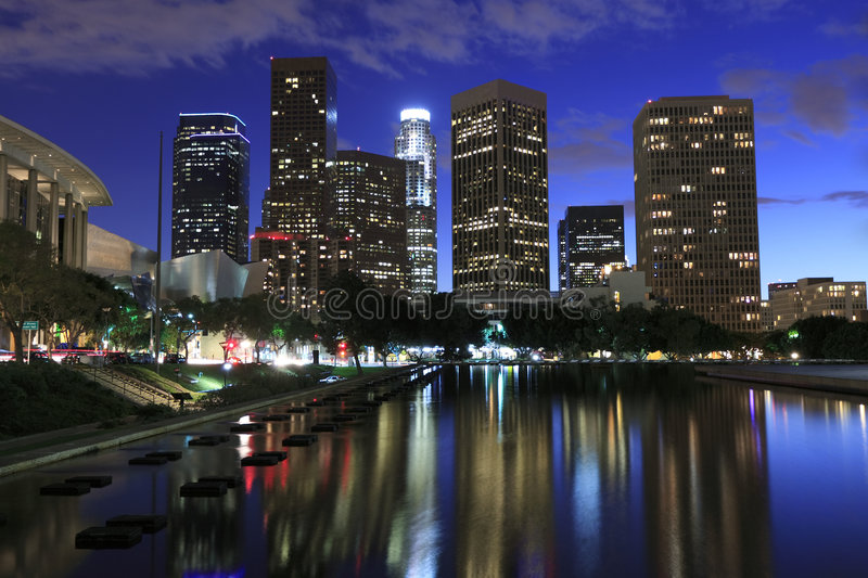 Download Los Angeles at night stock photo. Image of famous, angeles - 8249918