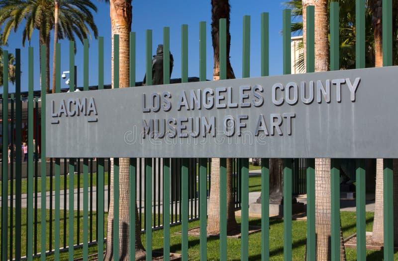 Los Angeles okręgu administracyjnego muzeum sztuki zdjęcia royalty free