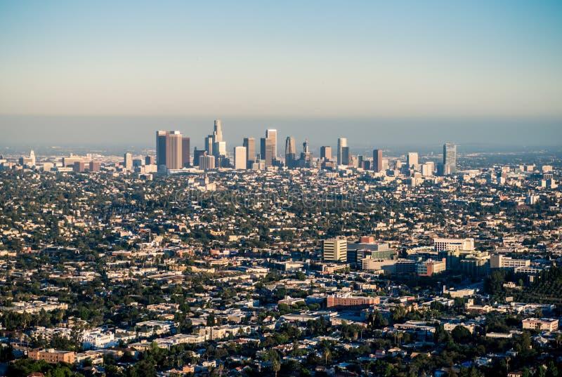 Los Angeles onder Smog stock foto