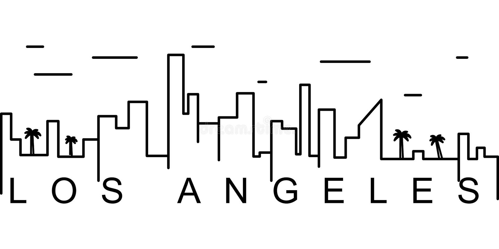 Los Angeles outline icon. Can be used for web, logo, mobile app, UI, UX stock illustration