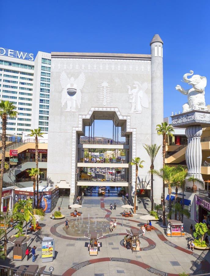 Los Angeles, pátio no teatro Dolby fotografia de stock royalty free