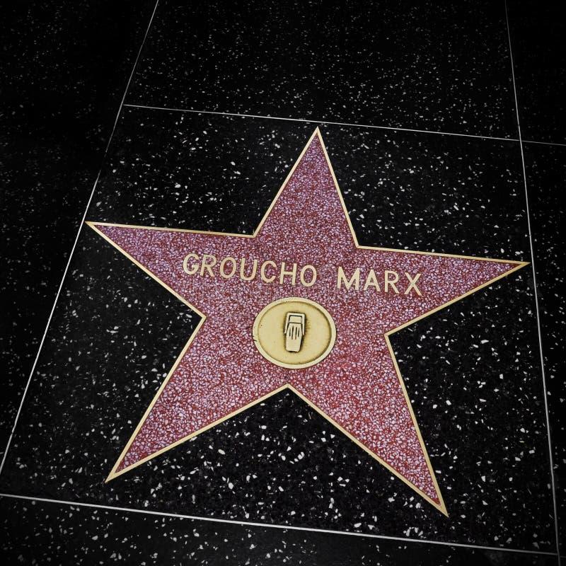 Groucho Marx gwiazda w Hollywood spacerze sława, Los Angeles, Jednoczący obrazy royalty free