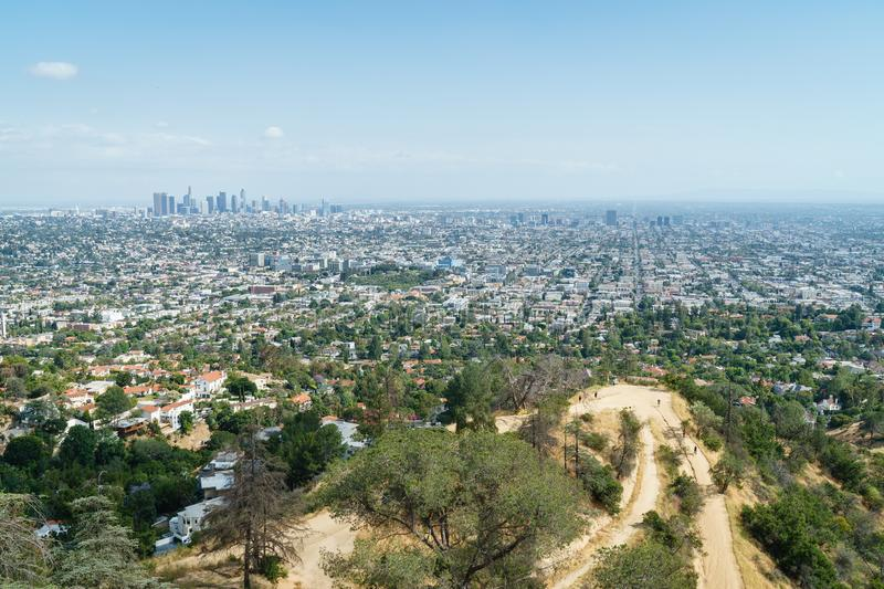 Los Angeles Panorama z Hollywood Hills, Obserwatorium Griffith fotografia stock