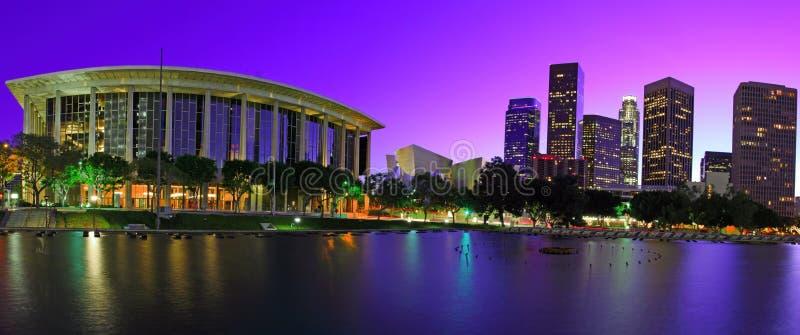 Los Angeles panoramica al tramonto immagine stock