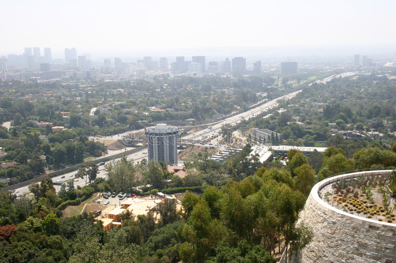 Los Angeles Pollution royalty free stock images