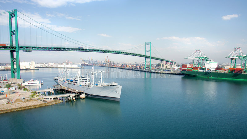 Download Los Angeles Port stock photo. Image of mosh00047, cargo - 4085700