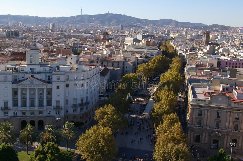 Los Angeles Rambla w Barcelona zdjęcie stock