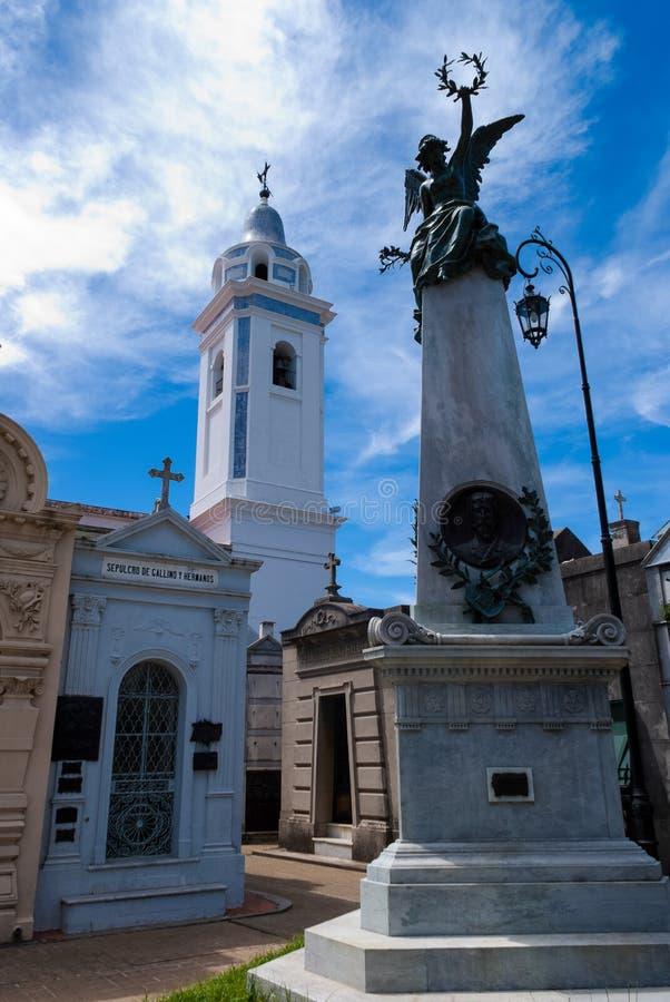 Los Angeles Recoleta Cmentarniany Buenos Aires zdjęcie royalty free