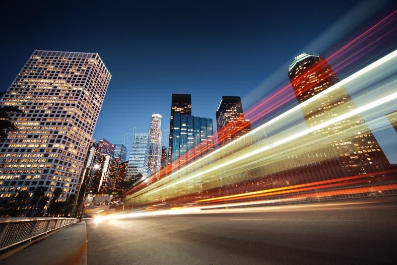 Los Angeles ruch drogowy fotografia royalty free
