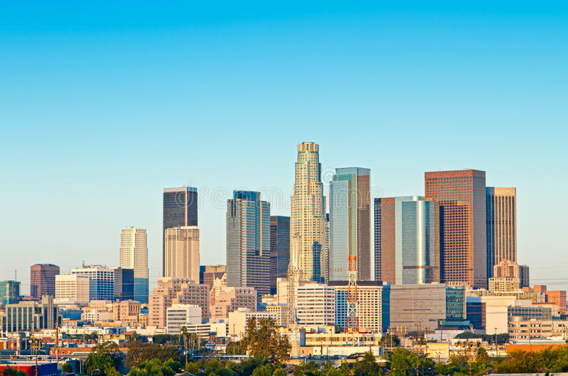 Los Angeles Skyline royalty free stock photography