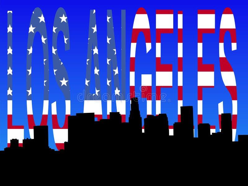 Download Los Angeles skyline stock vector. Image of skyline, stripes - 3471212
