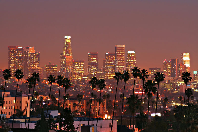Los Angeles Skyline royalty free stock image