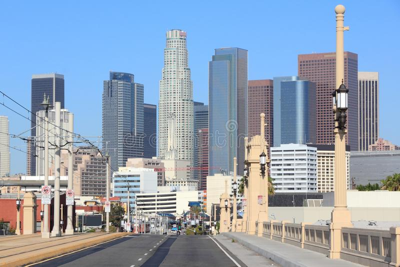Los Angeles skyline. Los Angeles, California, United States. City skyline view royalty free stock photography