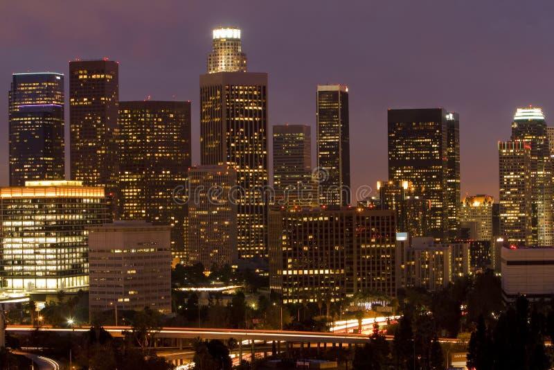 Download Los Angeles Skyline At Dusk Stock Image - Image: 7783011