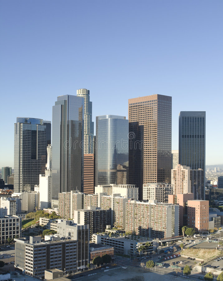 Los Angeles Skyline in Early Morning