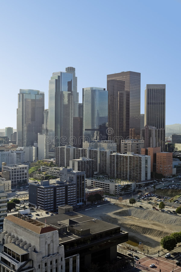 Download Los Angeles Skyline In Early Morning Stock Photo - Image: 8323092