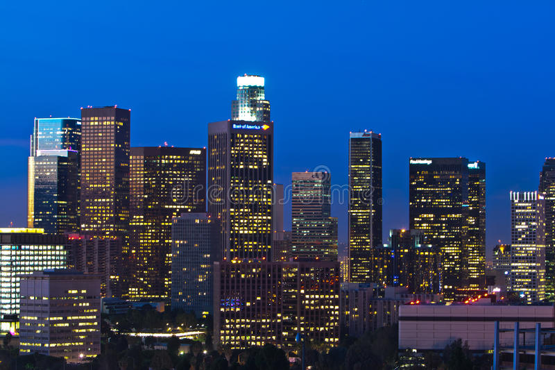 Download Los Angeles Skyline Shortly Before Dawn Editorial Photography - Image: 21879417
