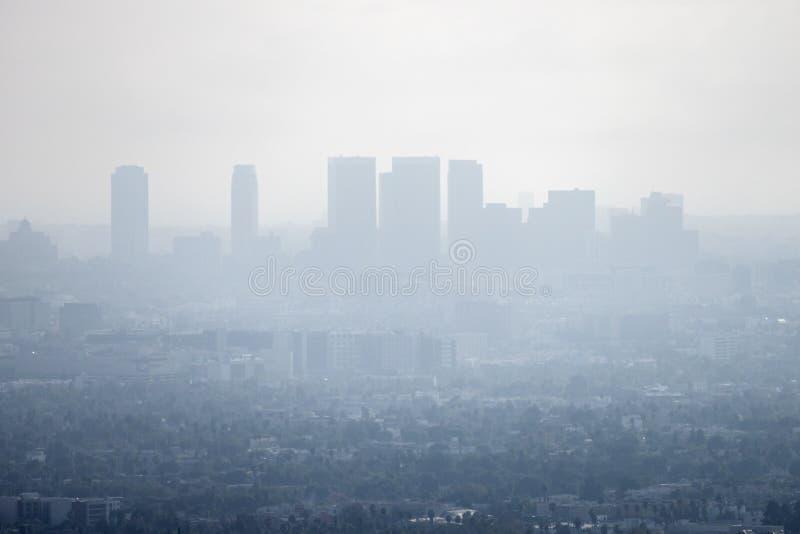 Los Angeles-Smog lizenzfreies stockfoto
