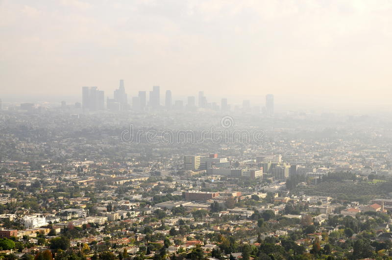 Los Angeles-Smog stockbild