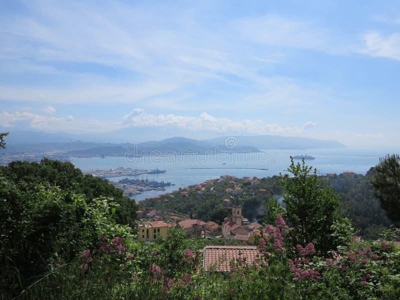 Los Angeles Spezia Liguria Włochy obrazy royalty free