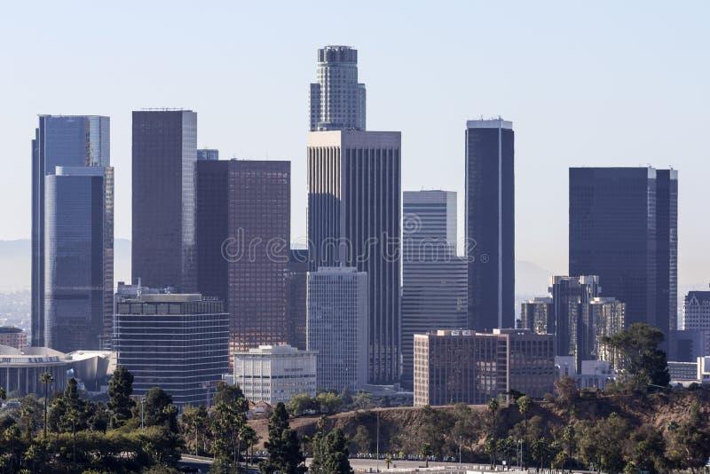 Los Angeles står högt morgonljus arkivbild