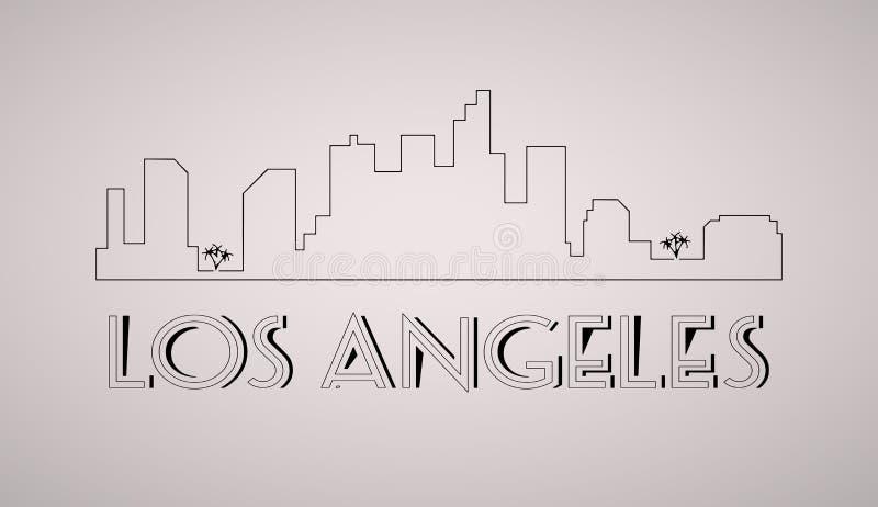 Los Angeles Stany Zjednoczone miasta linii horyzontu wektoru tło royalty ilustracja