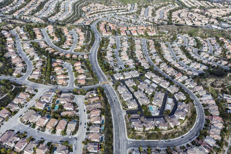 Los Angeles Stevenson Ranch Aerial fotografia de stock royalty free
