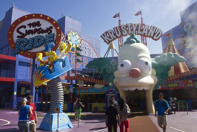 Los Angeles Studio_The universale Simpson fotografia stock