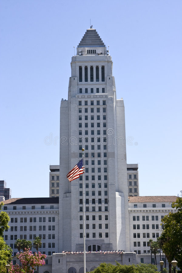 los angeles town hall stock photo image of white city