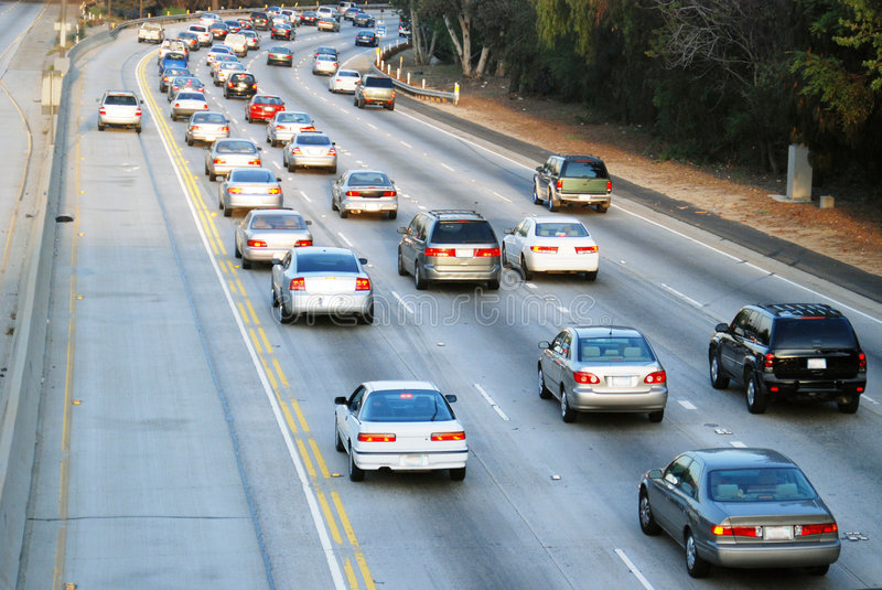 Los Angeles Traffic royalty free stock photo