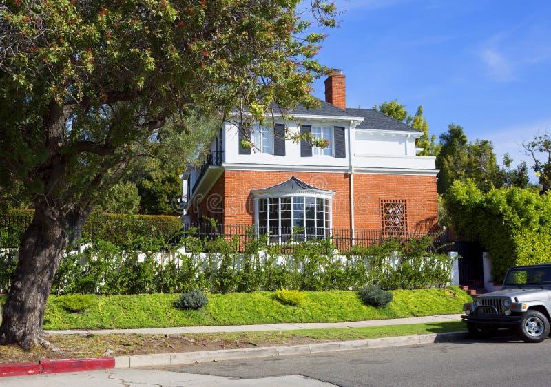 Los Angeles, U.S.A., Griffith Park Mansion fotografia stock