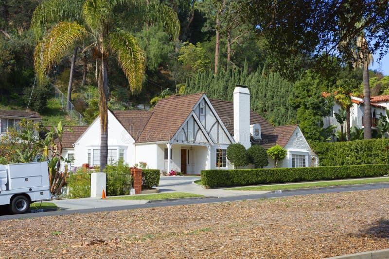 Los Angeles, U.S.A., Griffith Park Mansion immagine stock libera da diritti