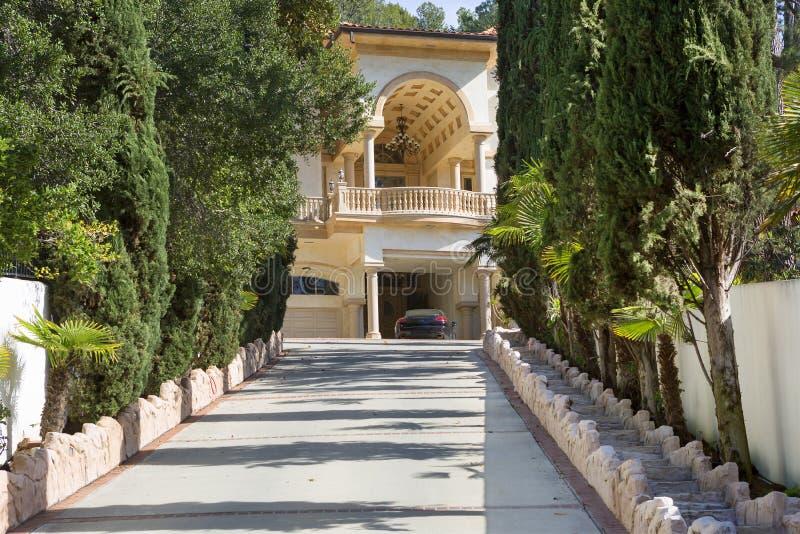 Los Angeles, U.S.A., Griffith Park Mansion fotografie stock libere da diritti