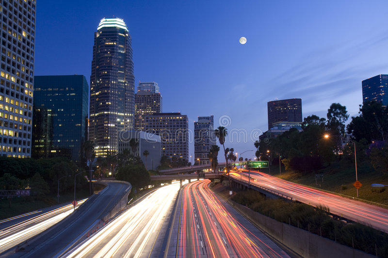 Download Los Angeles Under The Moonligh Stock Photo - Image: 5069054
