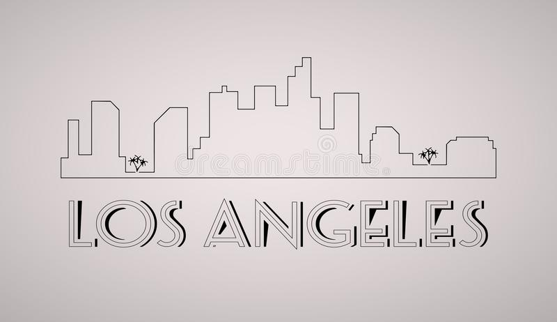 Los Angeles United States city skyline vector background. royalty free illustration