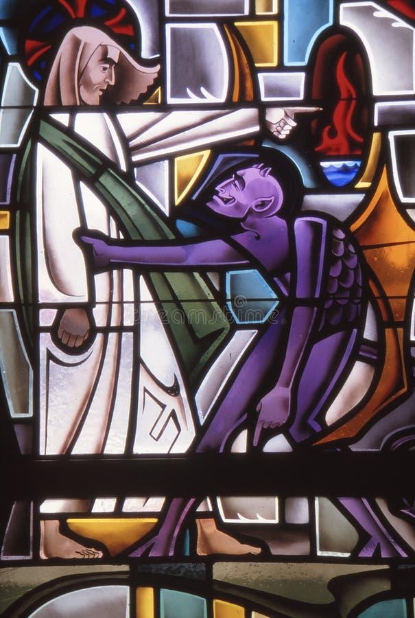 Free LOS ANGELES, UNITED STATES - Jun 17, 1985: Devil Tempts Jesus Stock Photography - 181634852