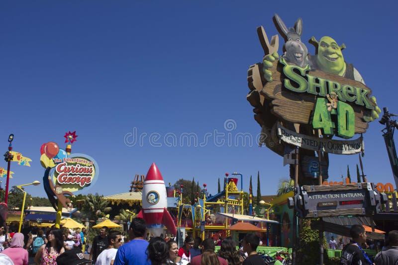 Los Angeles Universele Studio_Shrek stock foto's
