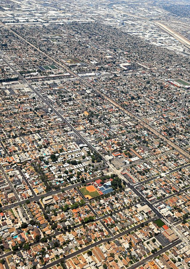 Los Angeles, USA. Aerial view of the city of Los Angeles stock photography