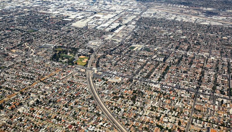Los Angeles, USA. Aerial view of the city of Los Angeles stock photos