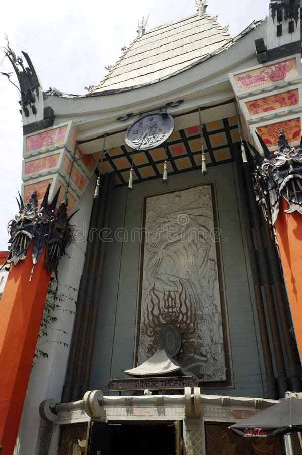 Los angeles, usa. LOS ANGELES, CALIFORNIA, USA - JUN 01, 2015 -chinese theater in hollywood boulevard royalty free stock photos