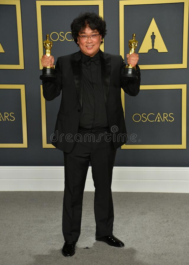 Bong Joon Ho. LOS ANGELES, USA. February 09, 2020: Bong Joon Ho at the 92nd Academy Awards at the Dolby Theatre..Picture: Paul Smith/Featureflash stock photo