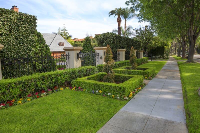 Los Angeles USA, gata som landskap i Beverly Hills royaltyfria foton