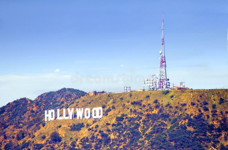 Los Angeles, USA, Hollywood-Schriftzug auf Hollywood Hills lizenzfreie stockfotos